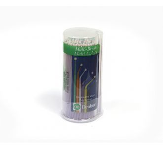 Аппликаторы Denbur Multi-Brush Small, фиолетовые, диспенсер 100шт