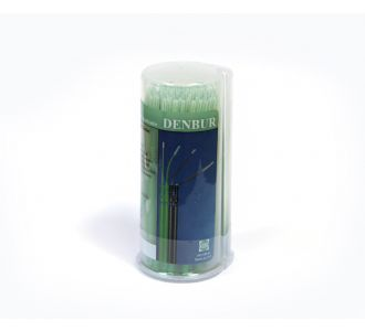 Аппликаторы Denbur Nano-Brush длинные зеленые, диспенсер 120шт