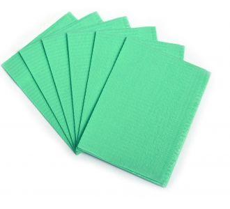 Нагрудные салфетки JNB 33х45см зеленые 500шт