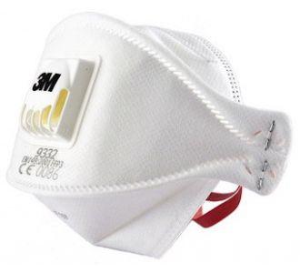 Защитная маска 3M Aura 9332 класс защиты 3 FFP3 NR D (50 ПДК), 1 шт