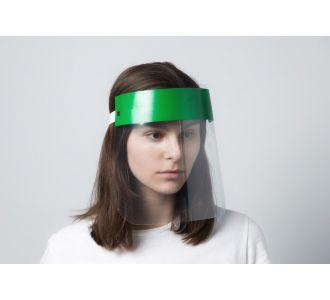 """Пластиковая защитная маска """"Будьте здоровы"""" зеленая"""