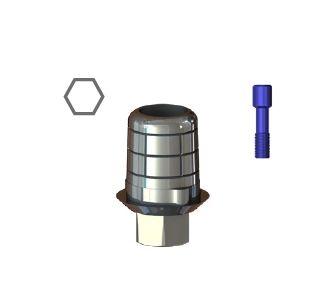 STCS-S16/S17 with hex  Титановая база с шестигранником CAD-CAM для S16/S17, SGS