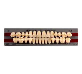 NNA3T2 GLORIA NEW ACE зубы акриловые двухслойные, полный гарнитур: фронтальные New Ace - фасон Т2, боковые Naperce - фасон М30, цвет A3, 28 шт., YAMAHACHI (Япония)